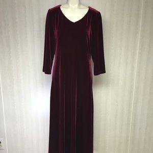 Beautiful velour burgundy dress